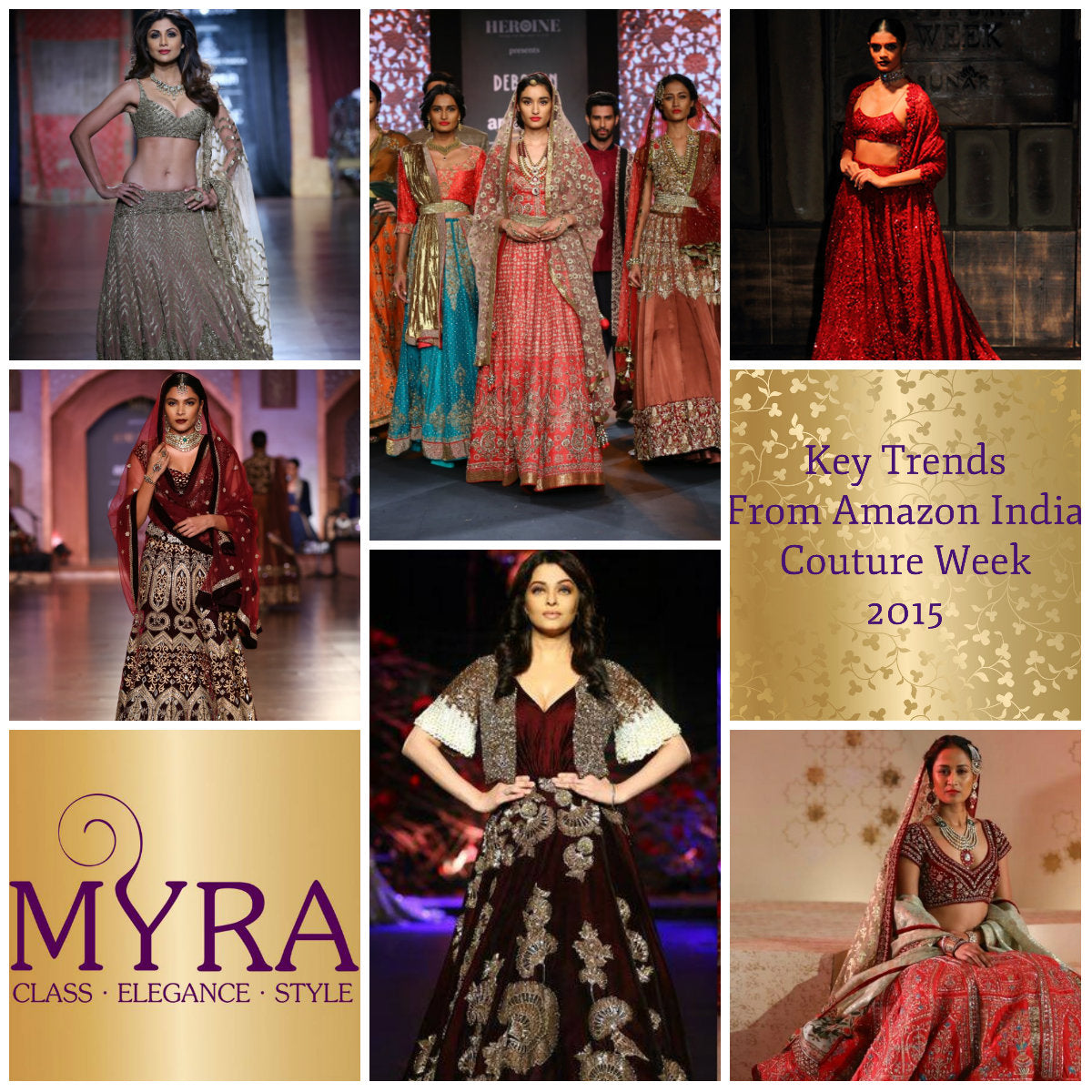 Bridal Trends For 2015 2016 Wedding Season Myra Collections