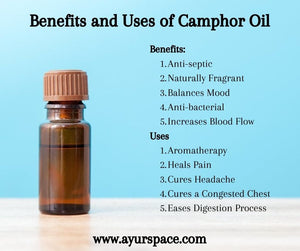 Camphor Oil- Types, Benefits, and Uses
