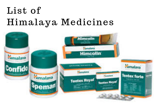 List of Himalaya Medicines: Tablets, Syrups and Capsules