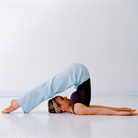 Plow pose - Yoga for thyroid