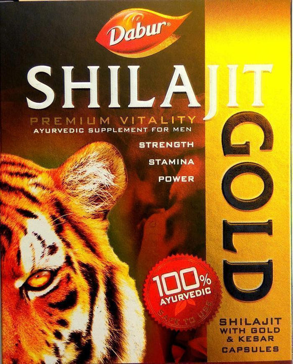 Dabur Shilajit Gold 10Capsules for Men's Strength and Stamina - Ayur Space