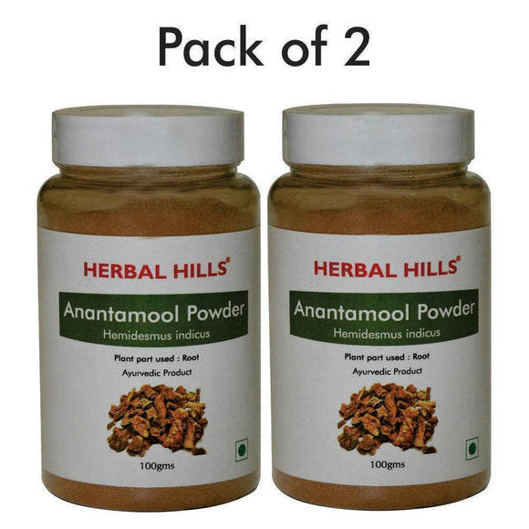 Anantamool Powder - 100 gms - Pack of 2 - Ayur Space