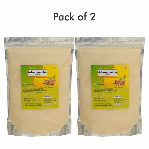 Ashwagandha Powder - 1 kg powder - Pack of 2 - Ayur Space