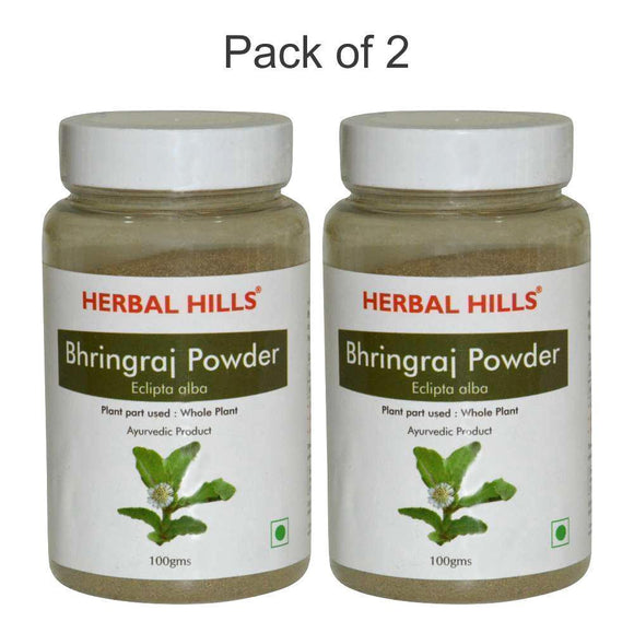 Bhringraj powder - 100 gms - Pack of 2 - Ayur Space