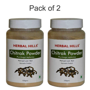 Chitrak Root Powder - 100 gms - Pack of 2 - Ayur Space