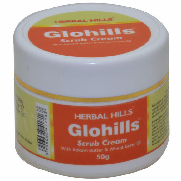 Glohills Scrub Cream - 50gms - Ayur Space