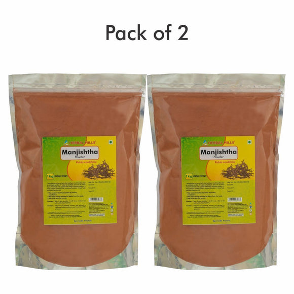 Manjishtha Powder - 1 kg powder - Pack of 2 - Ayur Space