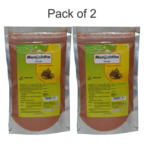 Manjishtha Powder - 100 gms - Pack of 2 - Ayur Space