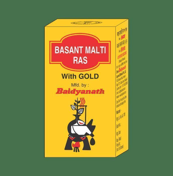 Baidyanath Basant Malti Ras with Gold Tablet - Ayur Space