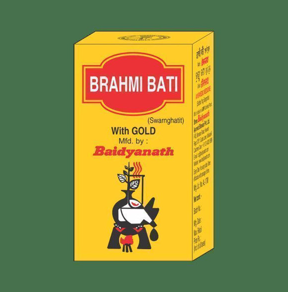 Baidyanath Brahmi Bati with Gold - Ayur Space