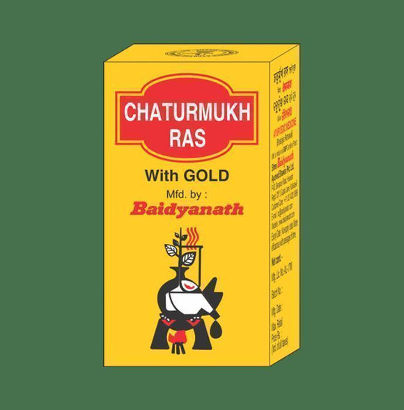 Tablets - Baidyanath Chaturmukh Ras With Gold Tablet