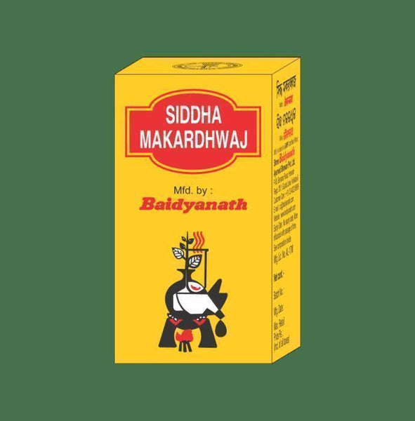 Baidyanath Makardhwaj Gutika Tablet (with Gold) - Ayur Space