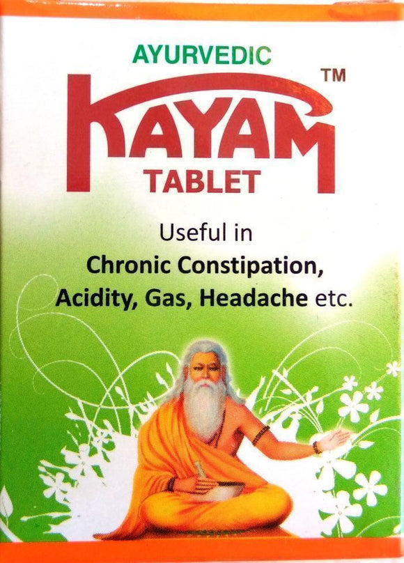 Kayam 30Tablets - Ayurvedic Tablets for Constipation - Ayur Space