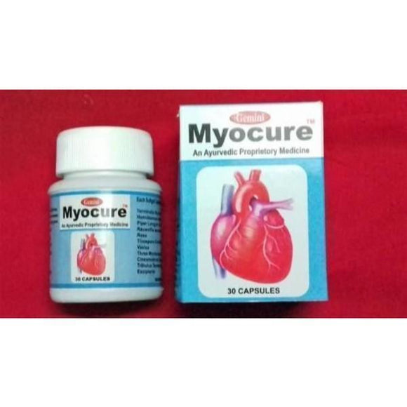 Myocure Heart Care Capsules Pack of 30 - Ayur Space