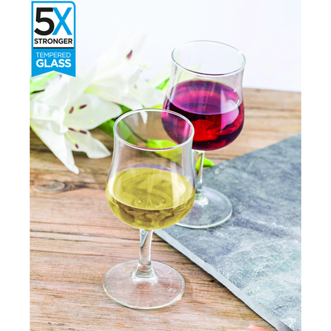 Hostelvia Breval Tempered Wine Glasses (Set of 12)