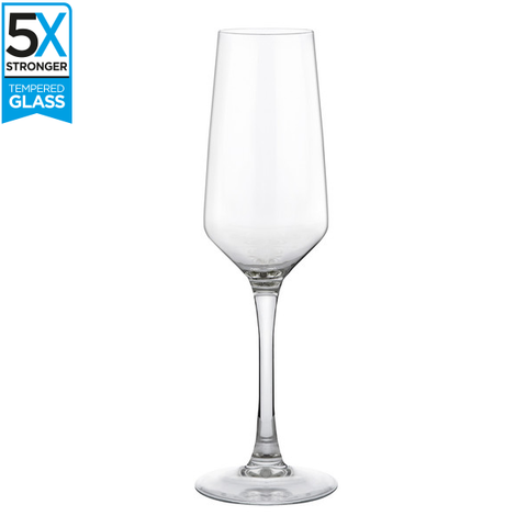 Hostelvia Mencia Tempered Champagne Flutes (Set of 6)