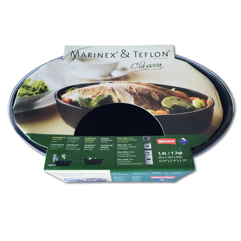Marinex Teflon Oval Roasting Dish 1.6L (262x182x60mm)