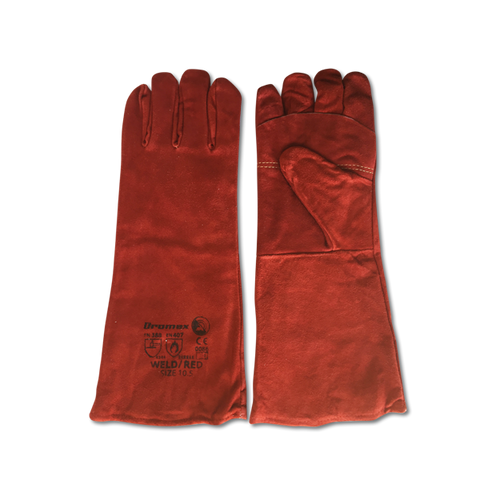 Dromex Leather Braai Glove / Oven Mitt (Red)