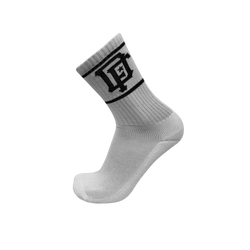 CREW White Classic Stripe Socks- Big League Black