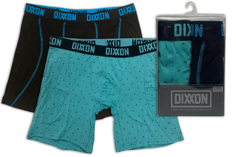 Tiffany & Black w/ Cyan Boxer Briefs - 2 Pack