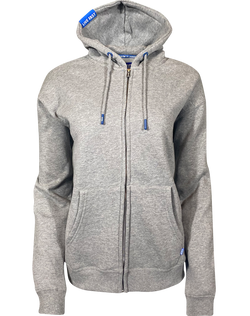 Women's PLAIN Dixxon Heather Grey Zip-Up Hoodie