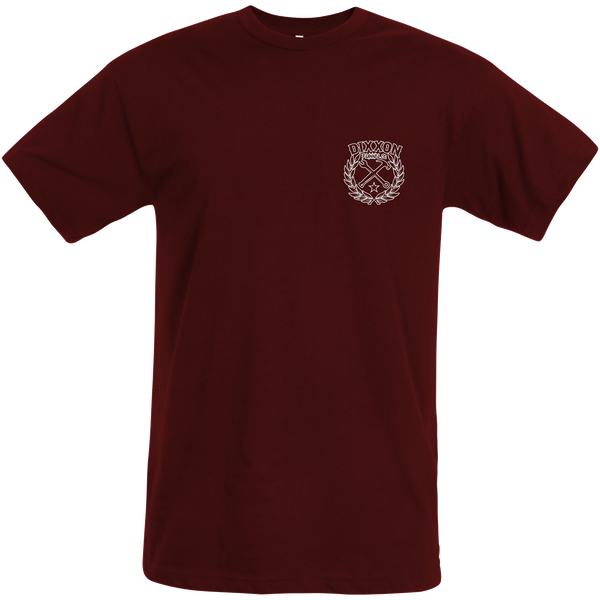 Sketchy Crest Outline T-Shirt - Cranberry