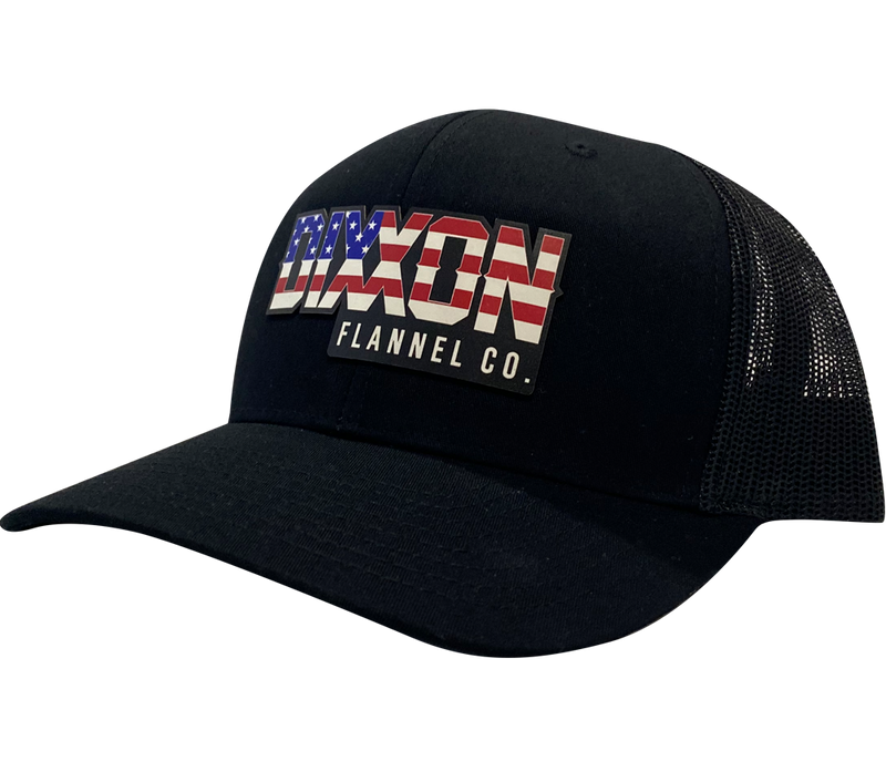 Flag leather Black (Pre-Curved) Hat