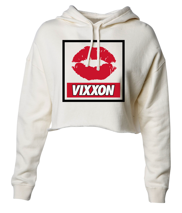 Red Lips Vixxon Crop Top Hoodie
