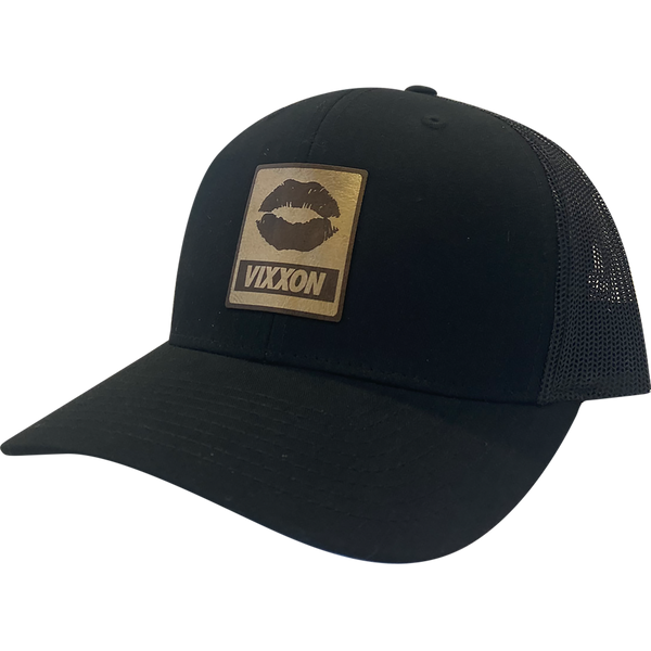 Lips Gold leather (Pre-Curved) Hat