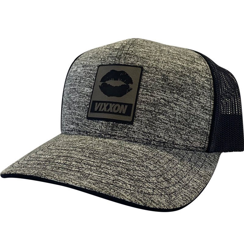 Lips Heather Grey leather (Pre-Curved) Hat