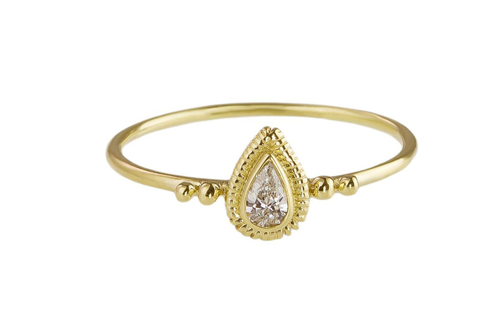 SOLITAIRE RING PEAR XS