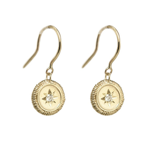 Antique Star Disc Earring