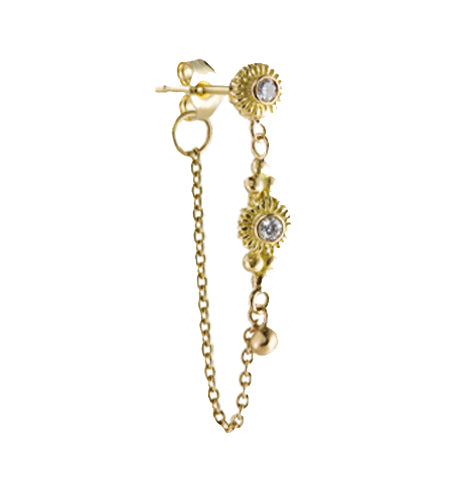 LONGS SOLITAIRE CHAIN EARRINGS