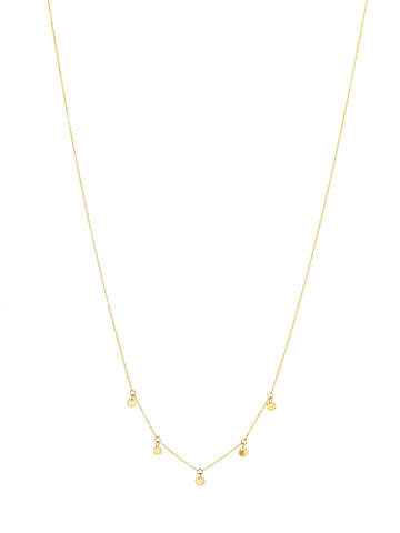 Crazy Gold front Seeds Necklace
