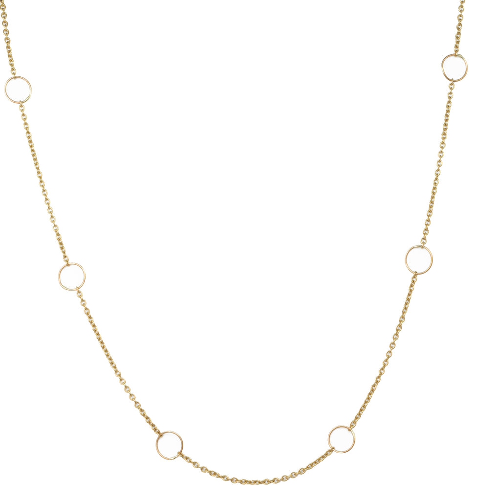 CHAIN NECKLACE LARGES CERCLES