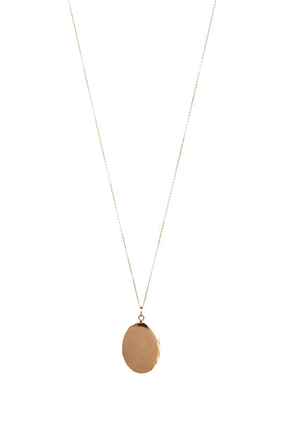 COLLIER MEDAILLE OVALE