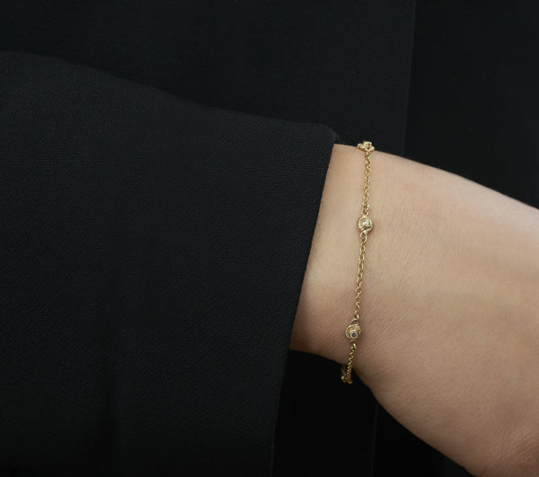 5 solitaires diamond bracelet