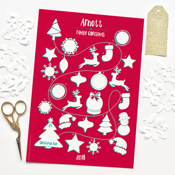 Personalised Family Christmas Memories Advent Calendar