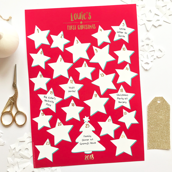 Sarah Catherine Personalised First Christmas Advent Calendar