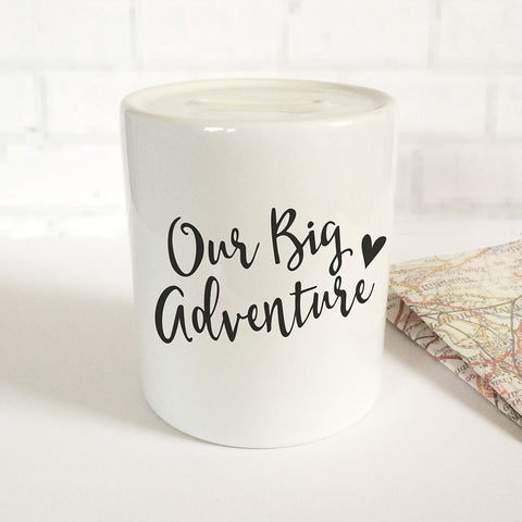 'Our Big Adventure' Money Jar