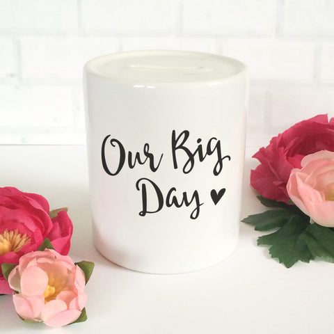 'Our Big Day' Money Jar