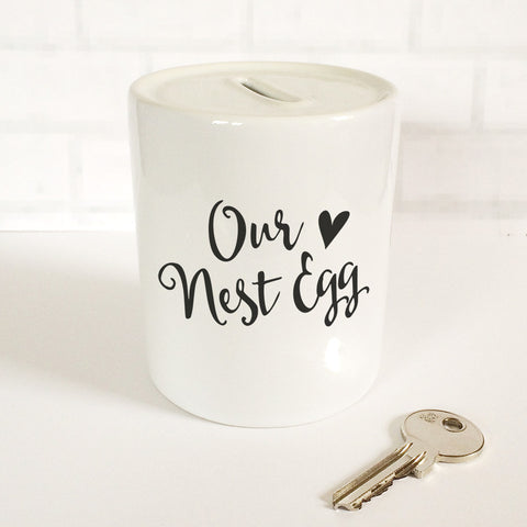 'Our Nest Egg' Money Jar