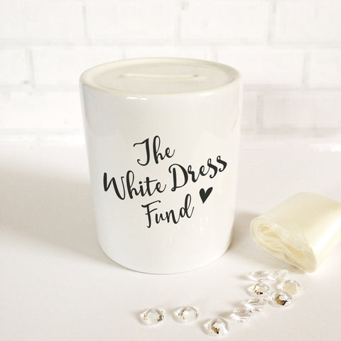 'White Dress Fund' Money Jar