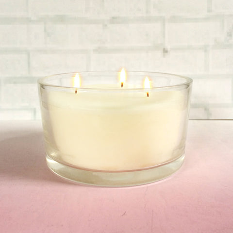 Scented 3 Wick Candle Glass Jar
