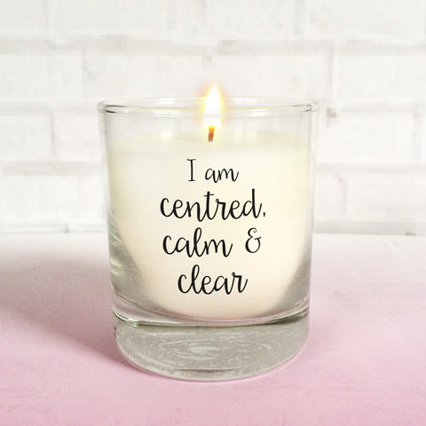calm mindfulness candle