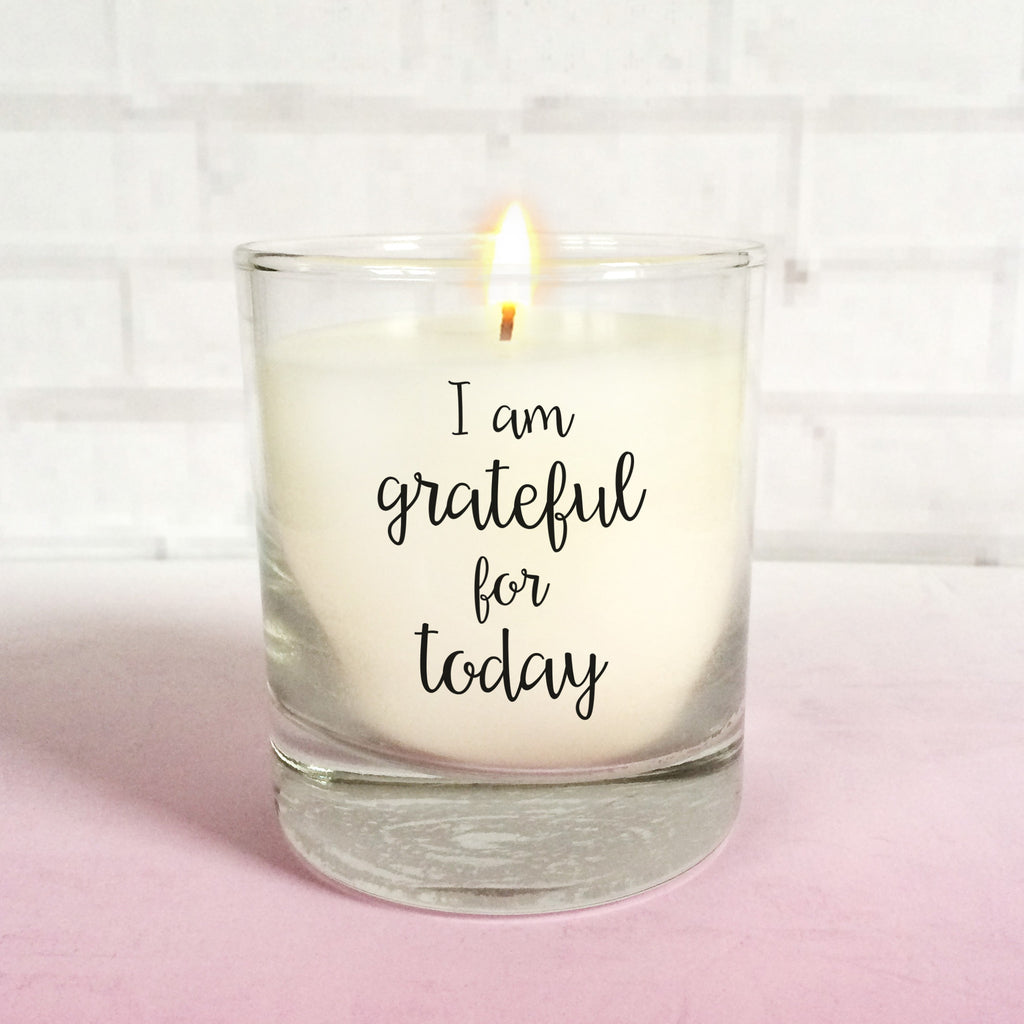 Grateful mindfulness candle