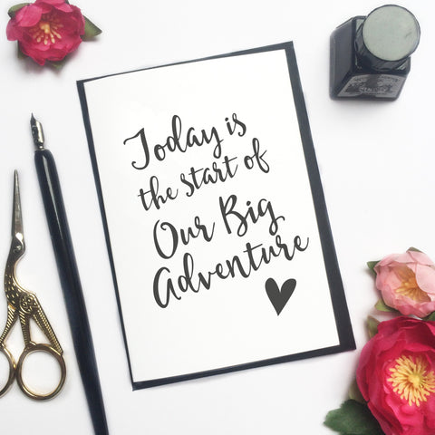 GC129 - 'Our Big Adventure' Wedding Card - 6 pack