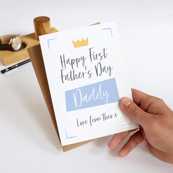 Sarah Catherine first father's day card