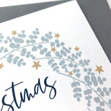 Girlfriend Christmas Card Eucalyptus & Star Wreath