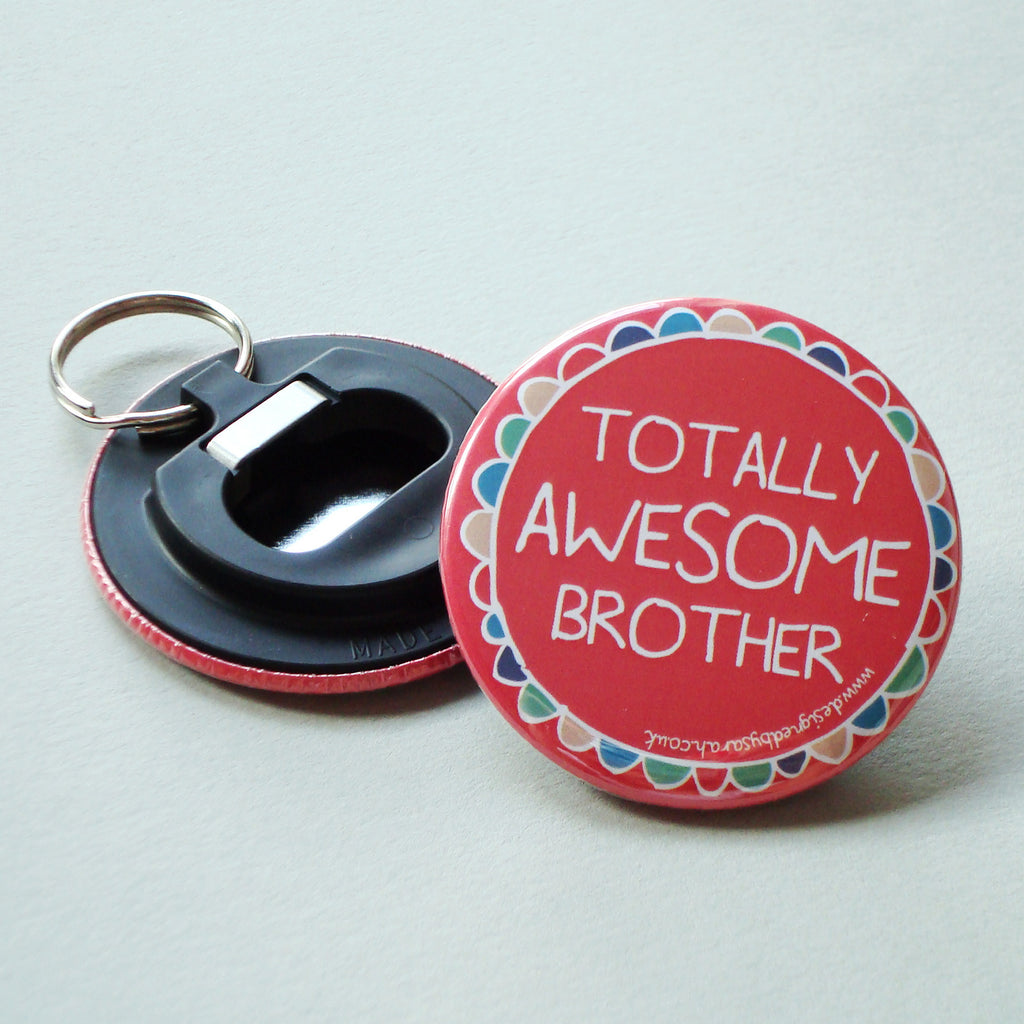 Brother Bottle Opener Keyring